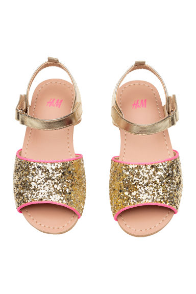 Glittery sandals - Gold - Kids | H&M CN