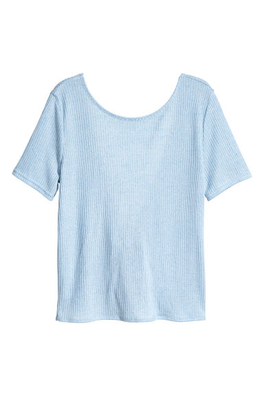 Fine-knit top - Light blue - Ladies | H&M