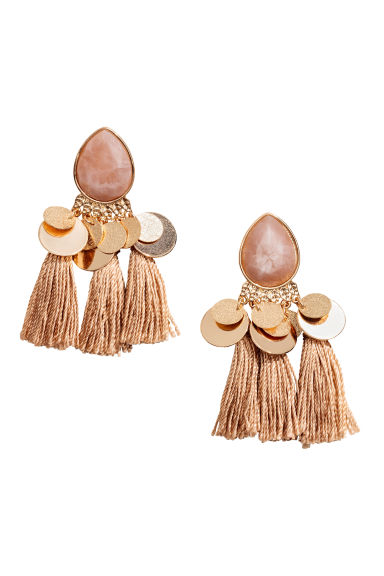 Tasselled earrings - Gold/Pink - Ladies | H&M GB