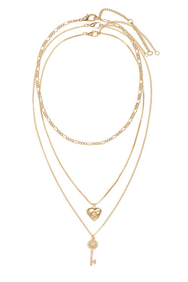 3-pack chokers - Gold - Ladies | H&M