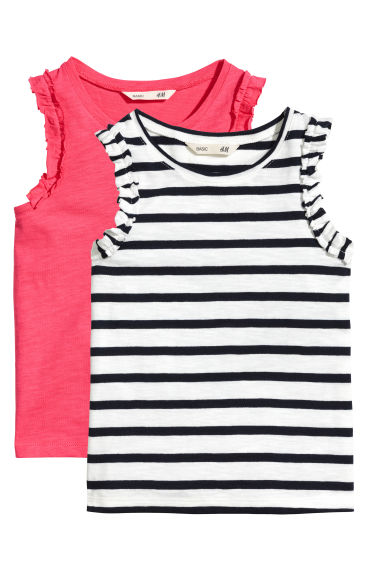 2-pack tops - Raspberry pink - Kids | H&M CN