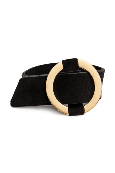 Bracelet with a metal ring - Black - Ladies | H&M CN
