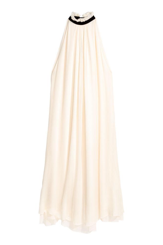 Šaty z hodvábneho šifónu - prírodná biela - ŽENY  819411f32c