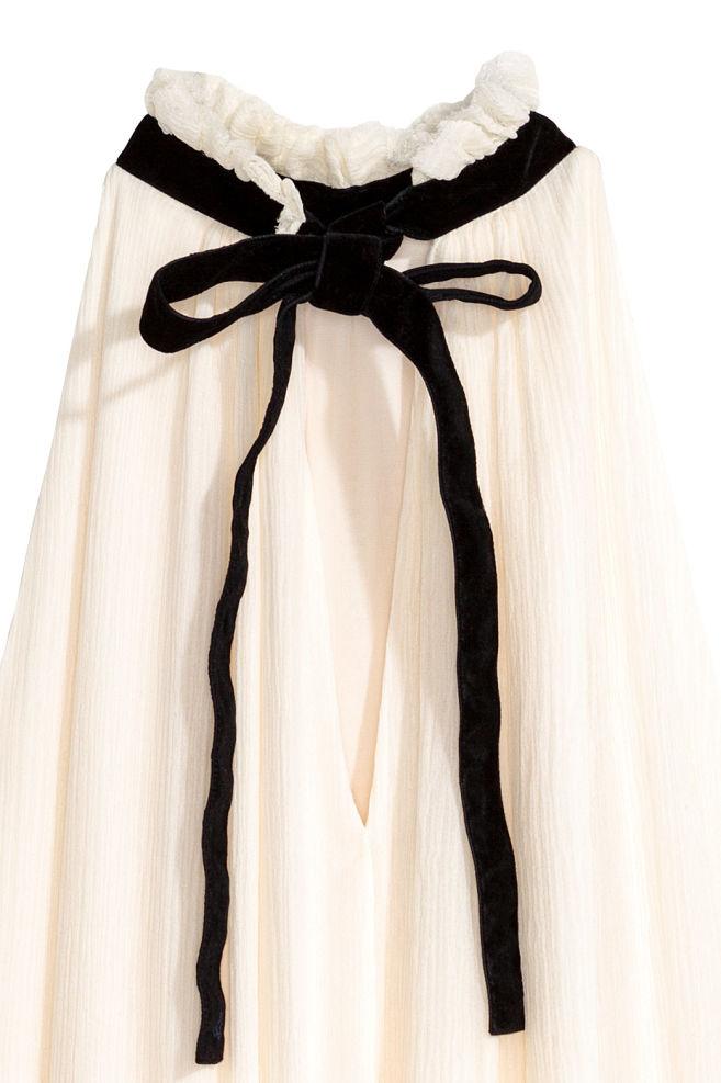... Šaty z hodvábneho šifónu - prírodná biela - ŽENY  ff67efb45b