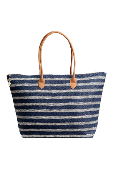 Shopper - Dark blue/Striped - Ladies | H&M GB