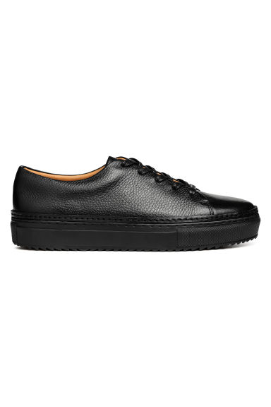 Leather trainers - Black - Men | H&M CN
