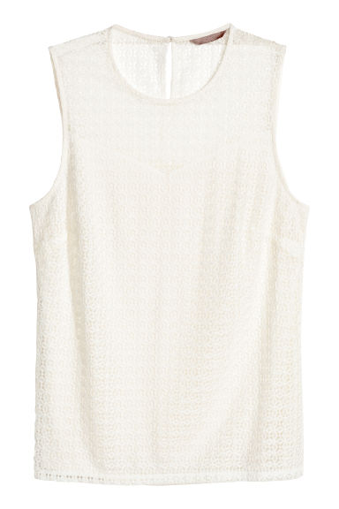 H&M+ Lace top - Natural white -  | H&M IE