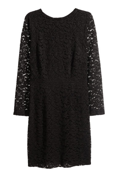 H&M+ Lace dress - Black -  | H&M