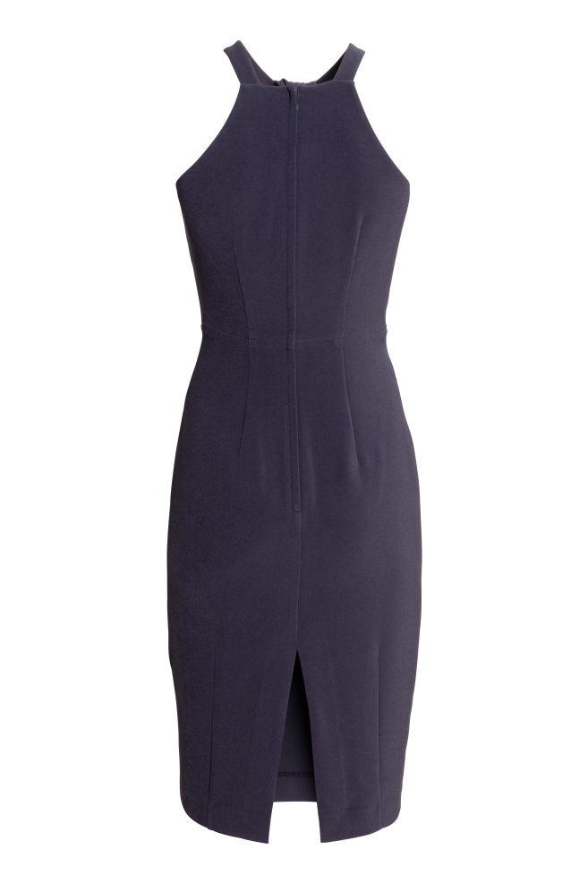 a3004578ddad37 ... Getailleerde jurk - Donkerblauw - DAMES