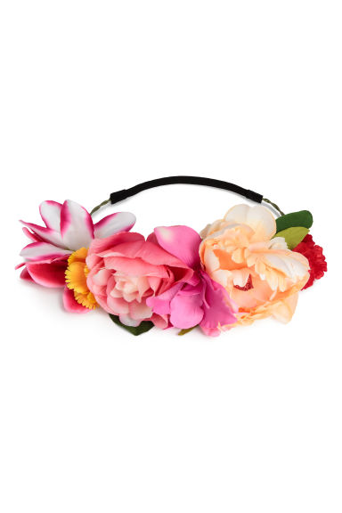 Hair decoration with flowers - Pink - Ladies | H&M CN