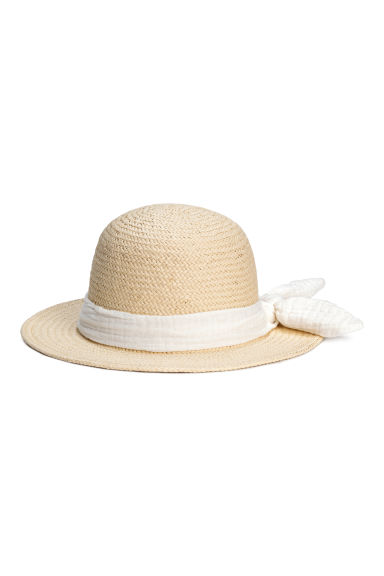 Straw hat - Natural -  | H&M CN