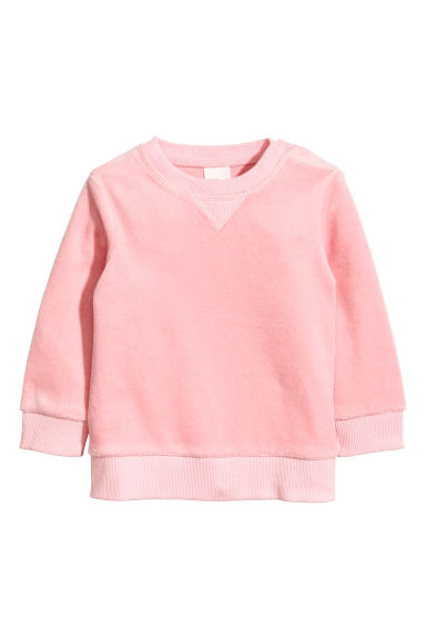 Velour sweatshirt - Light pink - Kids | H&M CN