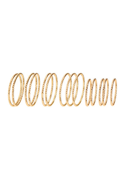 14-pack rings - Gold -  | H&M GB
