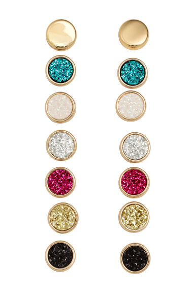 7-pack earrings - Gold -  | H&M IE