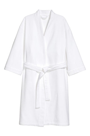 Terry dressing gown - White - Home All | H&M GB