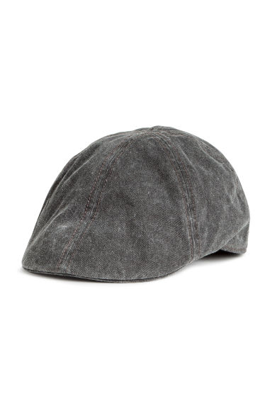 Flat cap - Black washed out -  | H&M GB