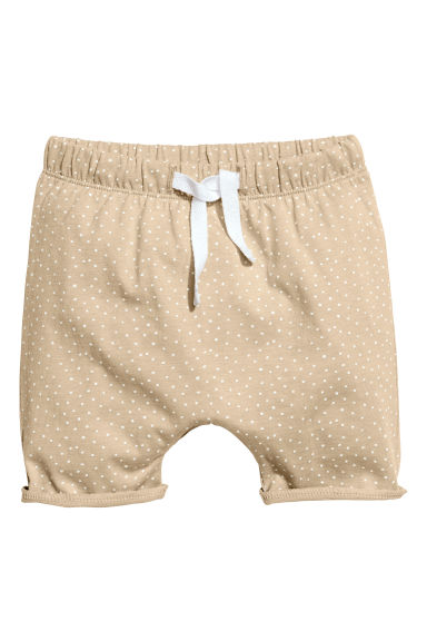 Jersey shorts - Beige/Spotted - Kids | H&M CN