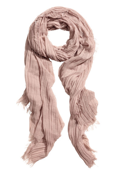 Pleated scarf - Powder pink -  | H&M IE