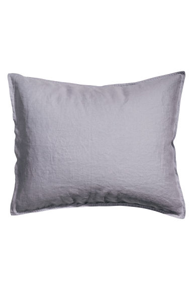 Washed linen pillowcase - Light purple - Home All | H&M IE