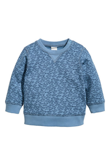 Sweatshirt - Blue/Cars - Kids | H&M CN