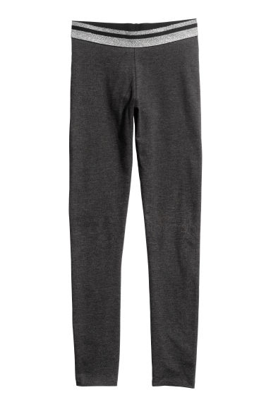 Jersey leggings - Dark grey/Silver-coloured - Kids | H&M CN