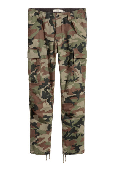 Cargo trousers - Khaki green/Patterned -  | H&M