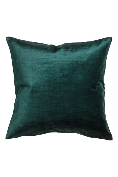 Velvet cushion cover - Dark green - Home All | H&M GB