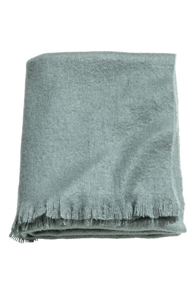 Soft blanket - Grey green - Home All | H&M CN