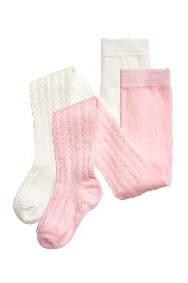 2-pack tights - White - Kids | H&M