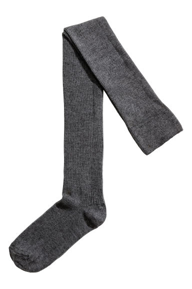 Thigh-high over-the-knee socks - Dark grey - Ladies | H&M CN