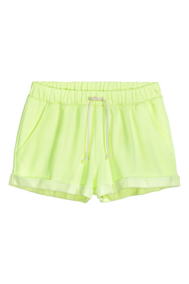 Sweatshirt shorts - Neon yellow - Ladies | H&M GB