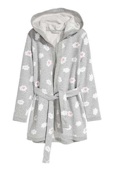 Dressing gown - Grey/Speech bubbles - Kids | H&M CN