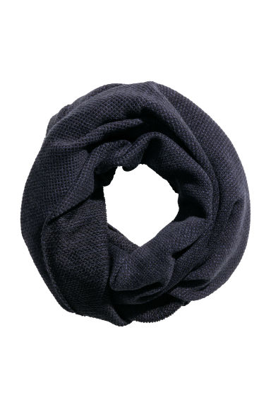 Knitted tube scarf - Black/Dark blue -  | H&M CN
