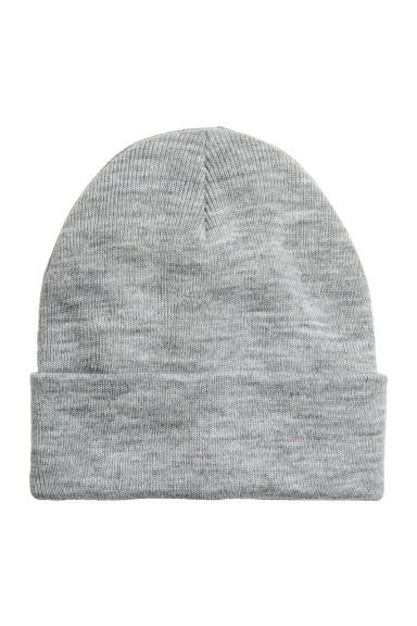 Knitted hat - Dark grey -  | H&M