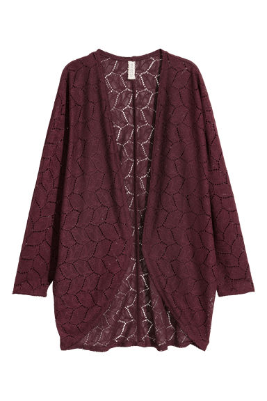 Lace cardigan - Plum - Ladies | H&M
