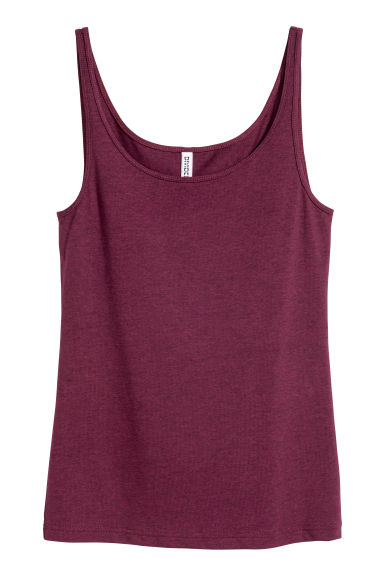 Jersey vest top - Plum - Ladies | H&M