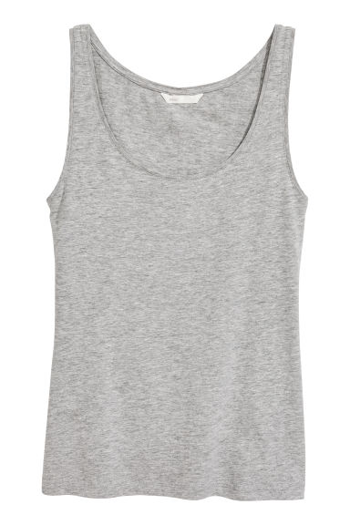 Jersey vest top - Grey marl - Ladies | H&M