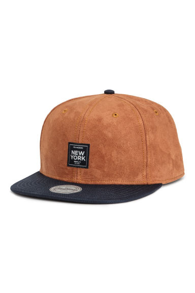 Cap with an appliqué - Camel - Men | H&M CN