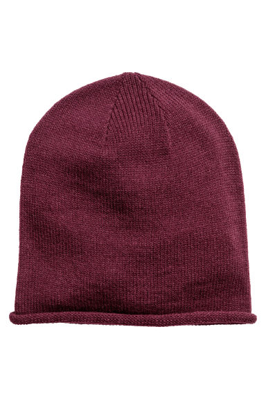 Knitted hat - Plum - Ladies | H&M