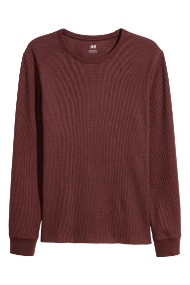 Waffled top - Burgundy - Men | H&M CN