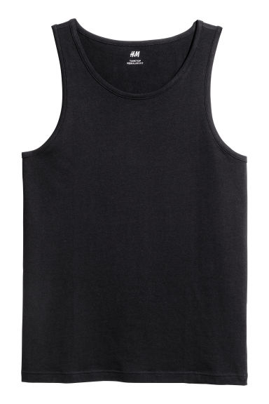 Vest top - Black - Men | H&M