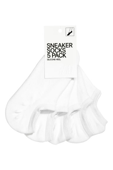 5-pack trainer socks - White - Ladies | H&M GB