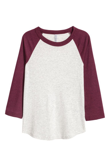 Baseball shirt - Burgundy marl - Ladies | H&M