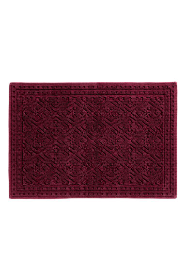 Jacquard-weave bath mat - Burgundy - Home All | H&M IE