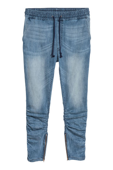 Slim Low Joggers - Blauw/gewassen - HEREN | H&M BE