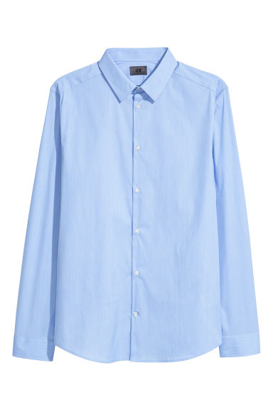 Stretch shirt Slim fit - Light blue - Men | H&M GB