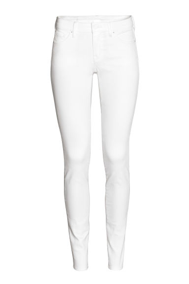 Super Skinny Low Jeans - Weißer Denim - Ladies | H&M DE