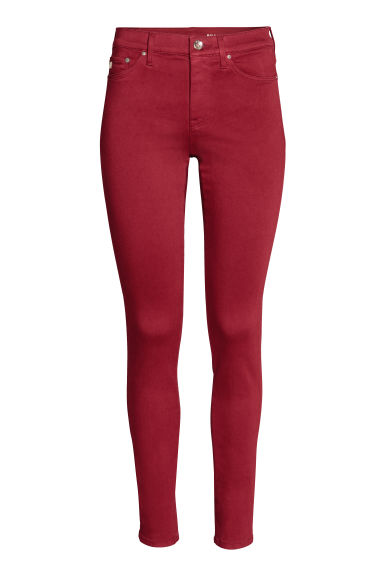 Shaping Skinny Regular Jeans - Rood -  | H&M NL