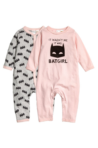 Lot de 2 pyjamas - Rose clair/Batgirl - ENFANT | H&M BE