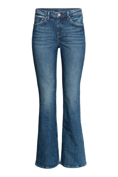 Boot cut Regular Jeans - Dark denim blue - Ladies | H&M
